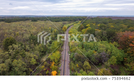 Aerial drone view of nature in Moldova 75894662