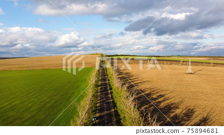 Aerial drone view of nature in Moldova 75894681