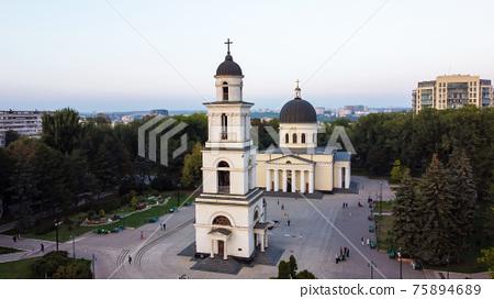Aerial drone view of Chisinau, Moldova 75894689