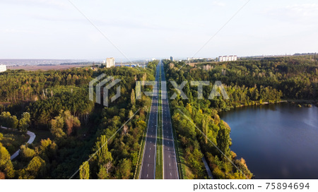 Aerial drone view of nature in Moldova 75894694