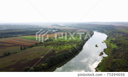Aerial drone view of nature in Moldova 75894698