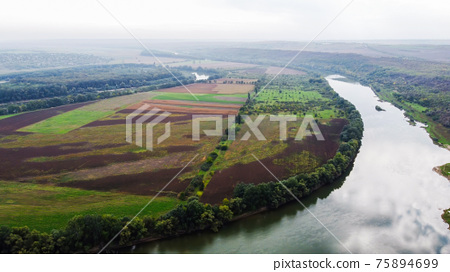 Aerial drone view of nature in Moldova 75894699