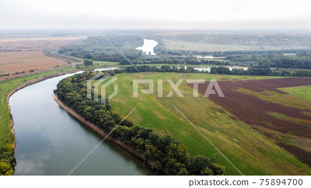 Aerial drone view of nature in Moldova 75894700