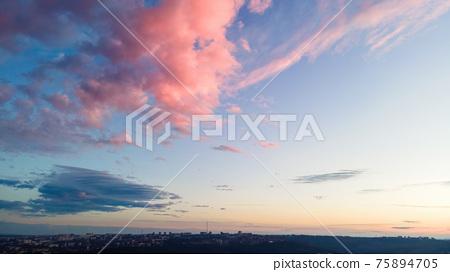 Sunset in Chisinau, Moldova 75894705