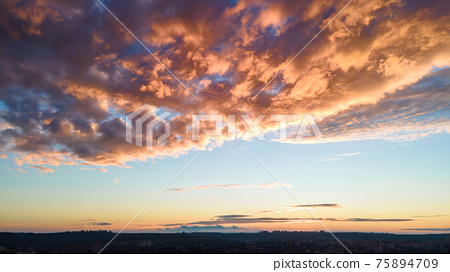 Sunset in Chisinau, Moldova 75894709