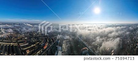 Aerial drone view of Chisinau, Moldova 75894713