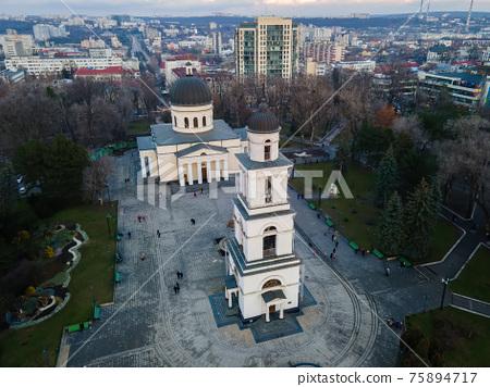 Aerial drone view of Chisinau, Moldova 75894717