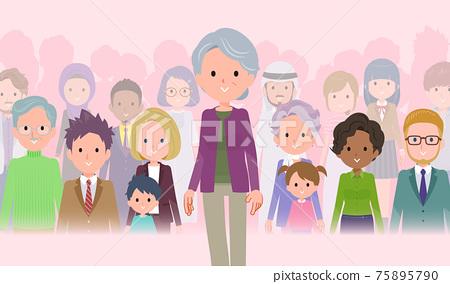 flat type Purple clothes grandma_protagonist 75895790