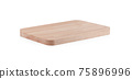 Wood cutting board isolated on white background 75896996