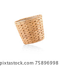 Wicker Basket isolated on white background 75896998