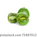 mini kiwiberry isolated on white background 75897012