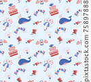 Seamless wedding Pattern Vector for banner 75897888
