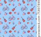 Seamless wedding Pattern Vector for banner 75897890