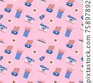 Seamless wedding Pattern Vector for banner 75897892