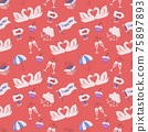 Seamless wedding Pattern Vector for banner 75897893