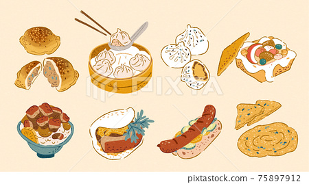 Taiwan doodle street food 75897912