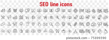 圖標 Icon 線型的 75899390