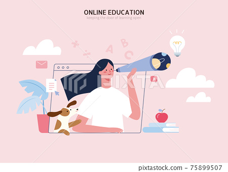 Online education concept 75899507