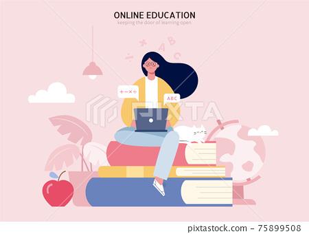 E-learning concept design 75899508