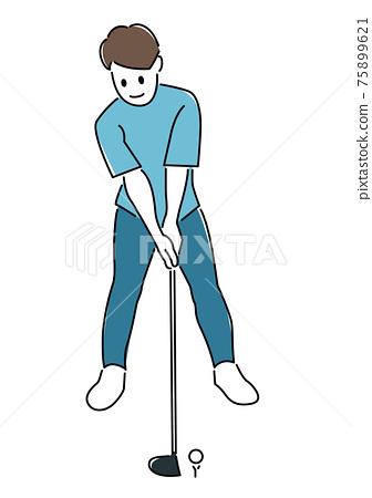 高爾夫球手 高爾夫 男人 75899621