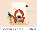 Home office concept 75899636