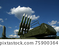 Modern Russian anti-aircraft missiles  against the sky 75900364