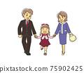 입학식의 부모와 자식 75902425