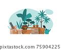 Plant corner with gardening equipment 75904225