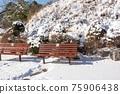 山 長凳 冬天 75906438