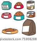 vector set of dog food 75908288