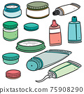 vector set of topical cosmetic and topical medicine 75908290