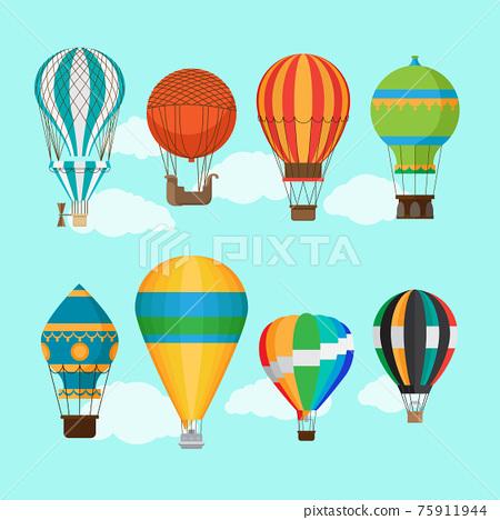 Vintage hot air balloons 75911944