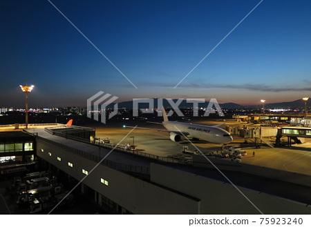 Night view of Osaka International Airport 75923240