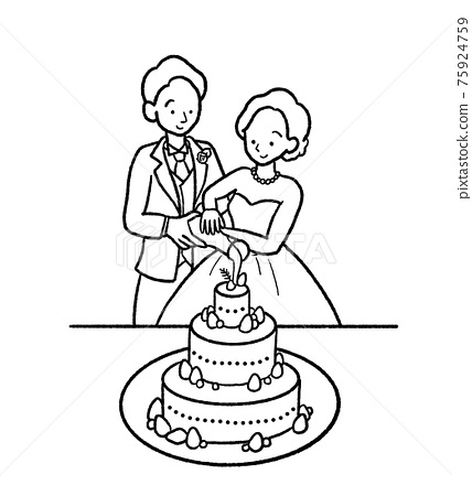 婚禮 結婚 新郎新娘 75924759