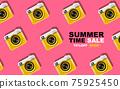 summer time , layout design,pattern, pop art, banner,  template design, vector illustration 75925450