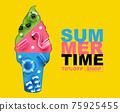 summer time , layout design, banner design, cover book,   template , vector illustration 75925455