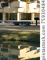 池塘 湖 長凳 75930484