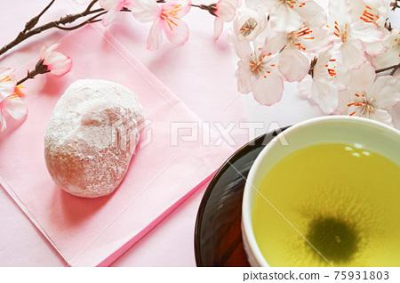 cherry blossom, daifuku, wagashi 75931803