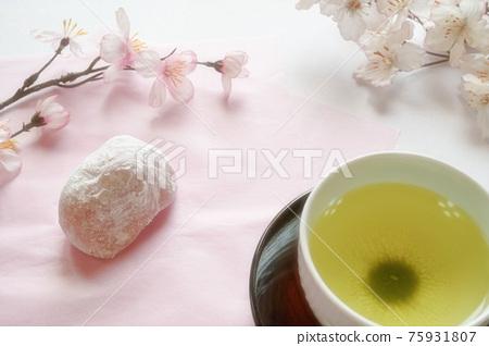 cherry blossom, daifuku, wagashi 75931807