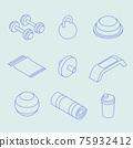 Isometric Sport Equipment Set 75932412