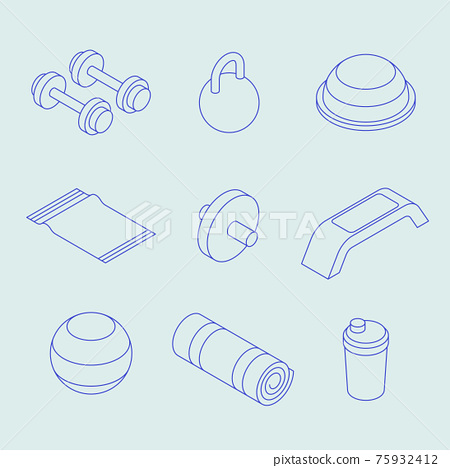 Isometric Sport Equipment Set 75932412