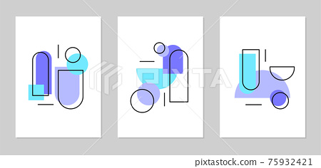 Abstract Geometric Poster Design 75932421