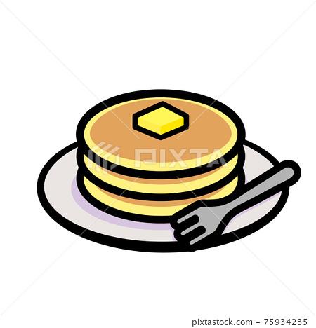 pancake, dessert, pastry 75934235