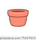 The Flower Pot. Isolated Vector illustration 75937633