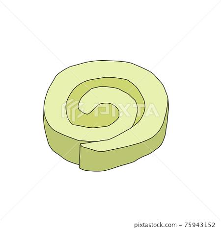 Cut roll cake [Matcha] 75943152