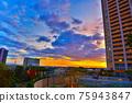 난바 파크스 옥상에서 보이는 파스텔 황혼 75943847
