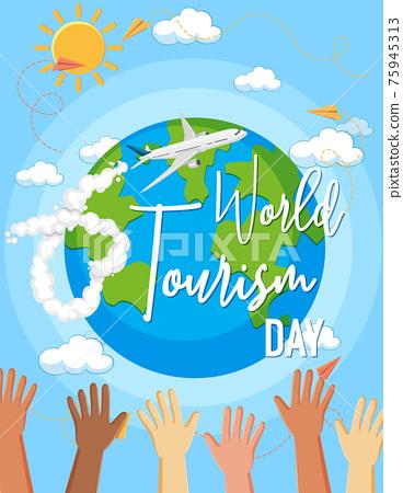 World tourism day symbol 75945313