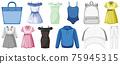 Set of clothes mock up 75945315