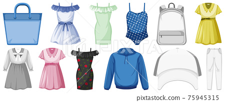 Set of clothes mock up 75945315
