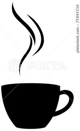 Isolated cup of coffee logo on white background 75945316